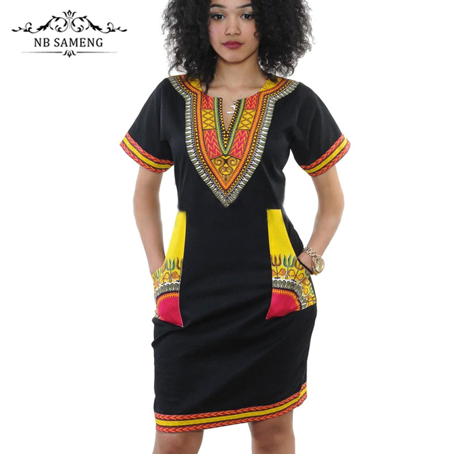 a2438fb51c094 Dashiki Dress 2017 Summer Sexy African Print Shirt Dresses Femme Vintage  Mini Hip Hop Boho Women Casual Clothing