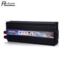 2000W Car Vehicle Power Inverter USB Adapter Converter DC 12V To AC 220V Car Power Inverter