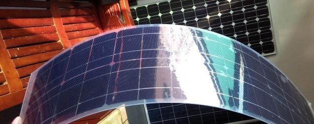50W/12V flexible monocrystalline solar panel very slim ...