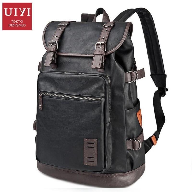 ФОТО UIYI PU Men Travel Bag Casual Style Designer Backpacks Men High Capacity Student Backpack  #UYB6015