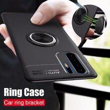 Anel magnético do carro de luxo caso macio no para huawei p30 pro p20 lite capa completa para huawei p20 p30 tpu à prova de choque caso pára choques