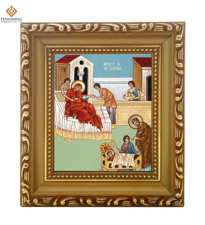 Wholesale photo frame russian church supplies nativity of for Craft picture frames bulk