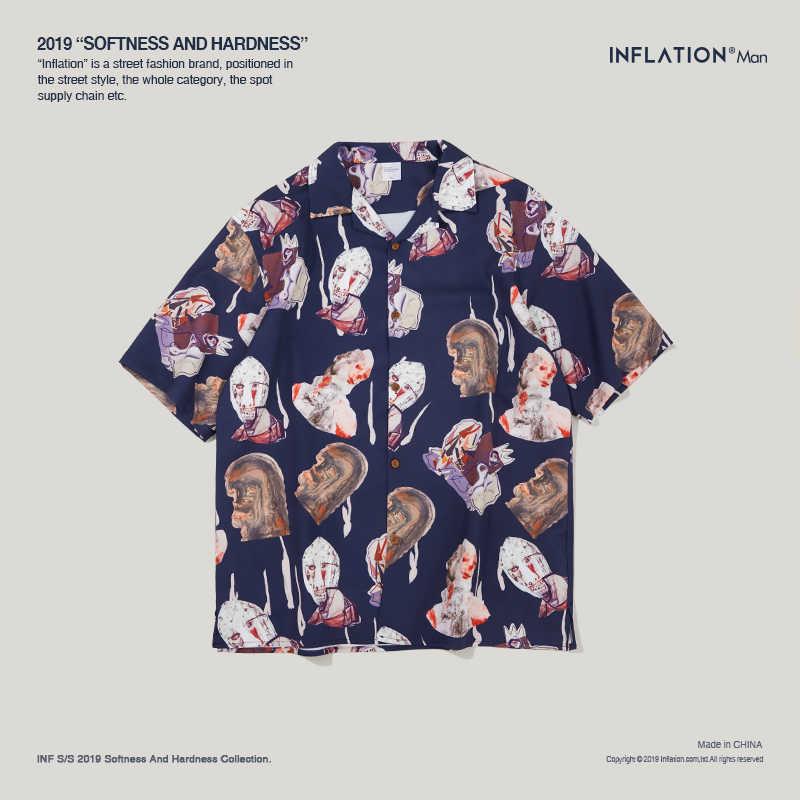 Camisas Manga S Camisa Hawaiana Ropa Holgada Estampado La 2019 Informal Abstracto De Con Corta Verano 9218 Para Hombre Playa 53ARjL4