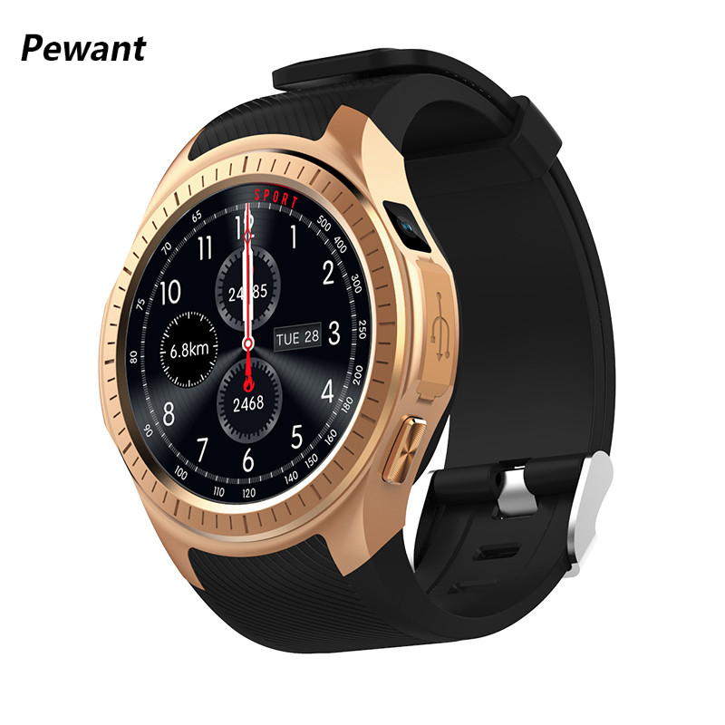 New Pewant GPS Smart Watch With Bluetooth Heart Rate Monitor Sleep Tracker Fitness Smartwatch Support Compass For Android iOS fs08 gps smart watch mtk2503 ip68 waterproof bluetooth 4 0 heart rate fitness tracker multi mode sports monitoring smartwatch