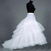 3 Hoops A Line Petticoats Cheap Wedding Petticoat Crinoline Underskirt Big Ruffle Wedding Accessories Women Tulle