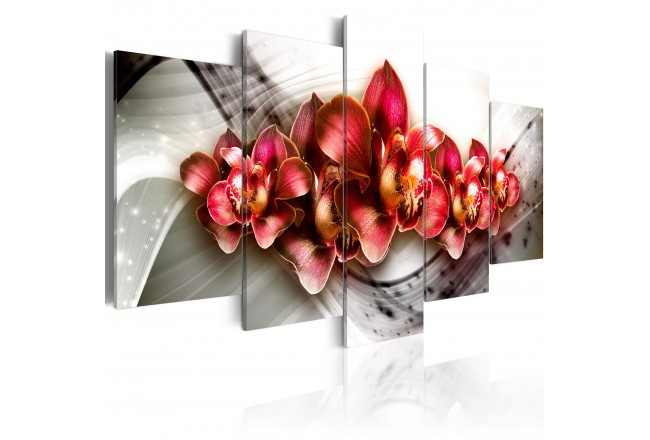 5 Pcs Set New beautiful flower Wall Art Painting World Map Canvas Printed Painting for Living Room Home Art PJMT 23 in Painting Calligraphy from Home Garden