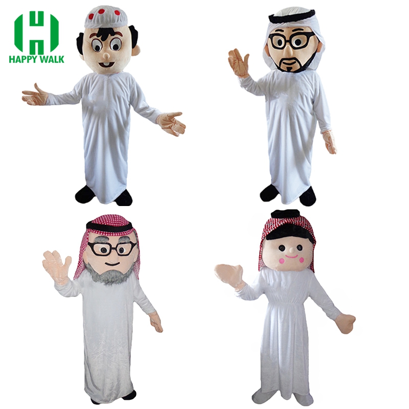 Arab Boy Mascot Costume for Adult Arabian Girl Mascot Costume Carnival Party Costumes Halloween Costume Performance