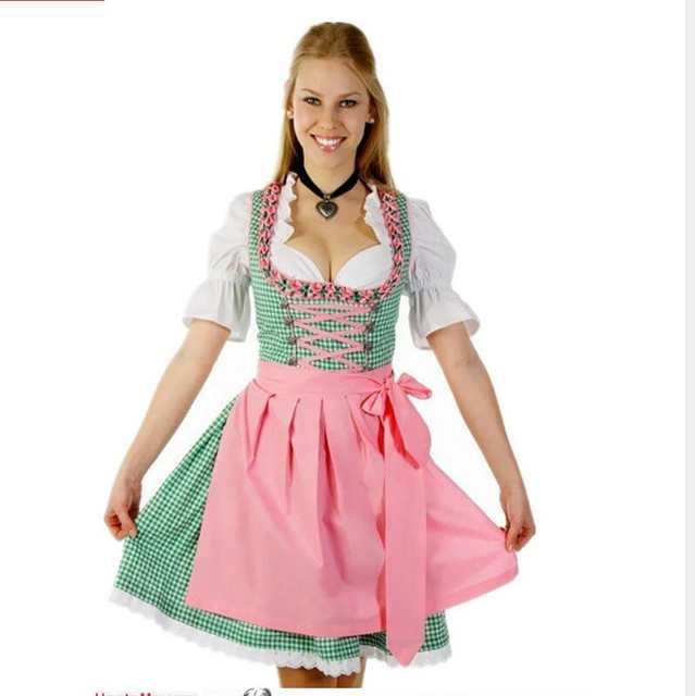 3657aaccf6a31 Online Shop Free shipping German Bavarian Dirndl Dress Beer Maid Ladies  Wench Waitress Serving Maid Oktoberfest Heidi Costume