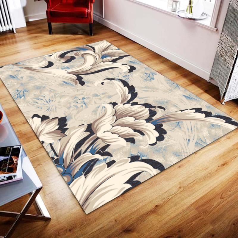 Nouveau Folk-personnalisé mode nordique salon tapis chambre lit complet doux corail velours tapis rectangulaire canapé Table basse tapis