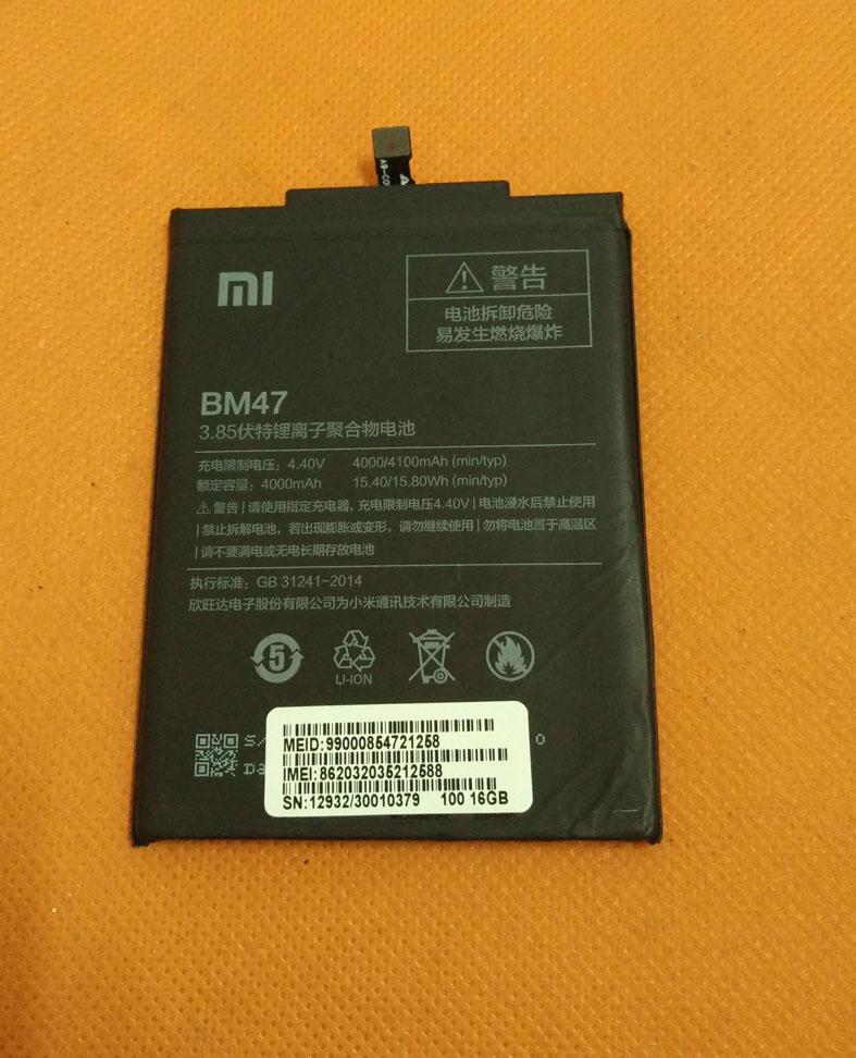 Used Original 4000mAh Battery Batterie Batterij Bateria For Xiaomi Redmi 3 Snapdragon 616 Octa Core 5 HD 1280X720