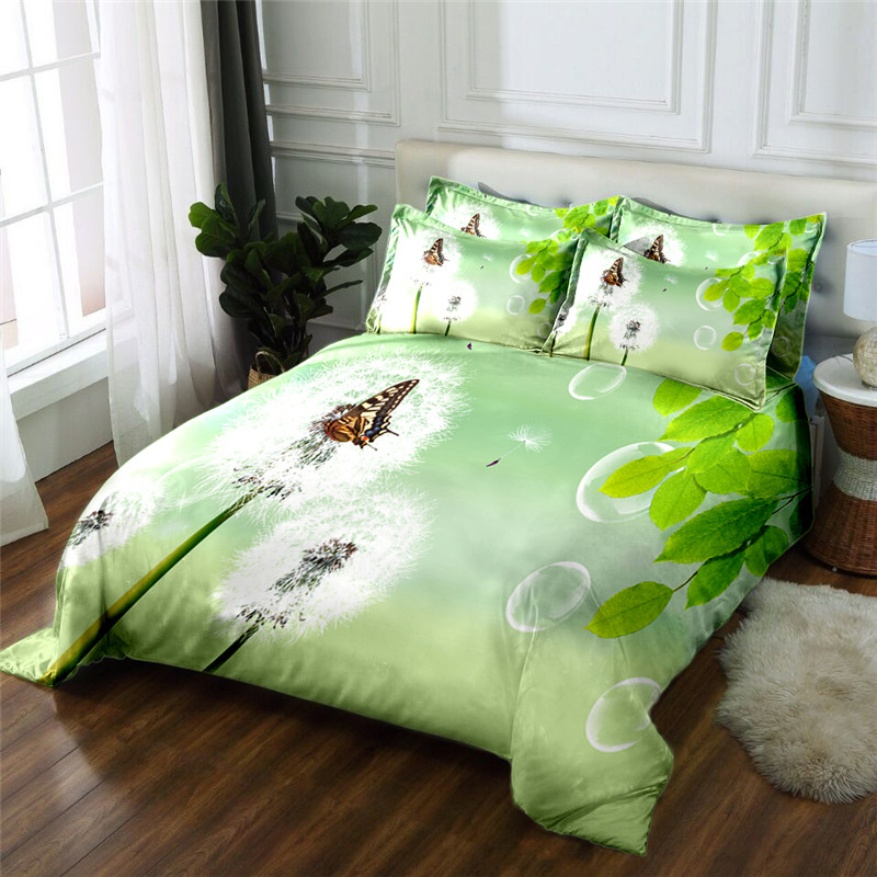 New Product 3D printed 4 Pcs Bedding Set Microfiber Bedclothes flowers Bed Linens Duvet Cover Set Bed Sheet - 2