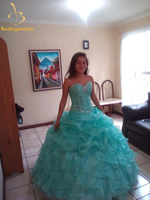 2016 Cheap Quinceanera Dresses Ball Gown In Stock Beading Sleeveless Sweetheart Tiered Floor Length Vestidos De