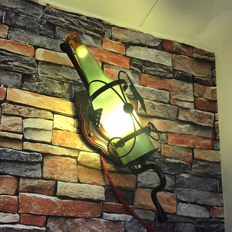 2017 creative Bottle shape led sconce wall lights vintage led wall lamp loft wall light fixtures for bedroom bar hallway indoor ...