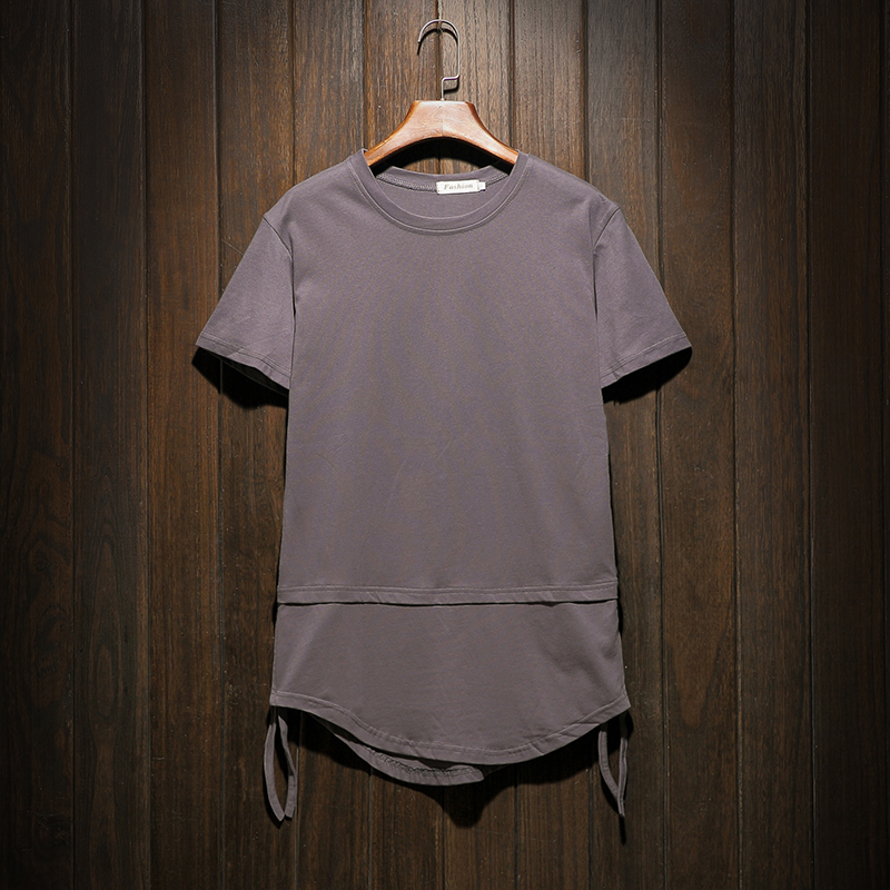 2018 new listing wild fashion simple exquisite Summer Man The Wind In Short Sleeve T Pity Dark Grey Favourite Free shipping
