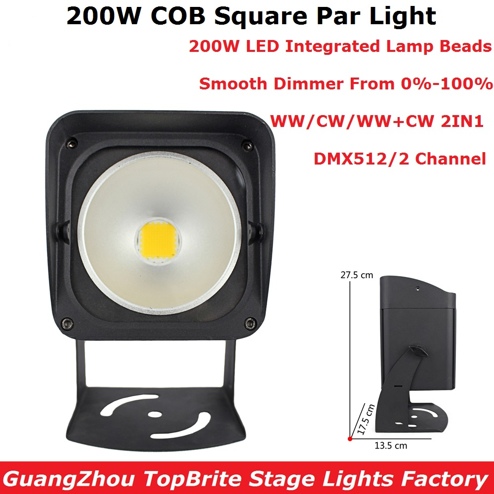 1X Stage Par 200W High Power Aluminium Alloy DJ DMX Led Beam Wash Strobe Effect Stage Lighting Cold White Or Warm White Optional