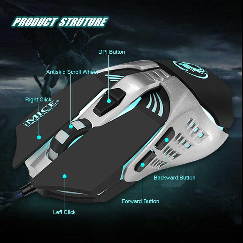 المهنية لعبة السلكية ماوس 3200 ديسيبل متوحد الخواص البصرية ماكرو للبرمجة 7 أزرار الألعاب ماوس ألعاب LED الخلفية التنفس الكمبيوتر الفئران