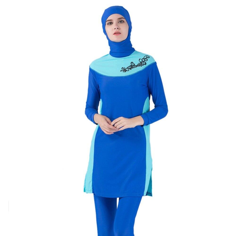 1f74cad94f Adriana Arango Arab Muslim Swimsuit Plus Size Modest Women Islamic Long  Sleeves Swimwear Printed Swimsuit Hijab Costume for Lady