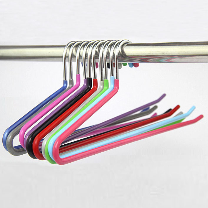 Sorplus Slacks Pant Hangers Open Ended Easy Slide Organizers Metal Hangers 15 pieces Lot