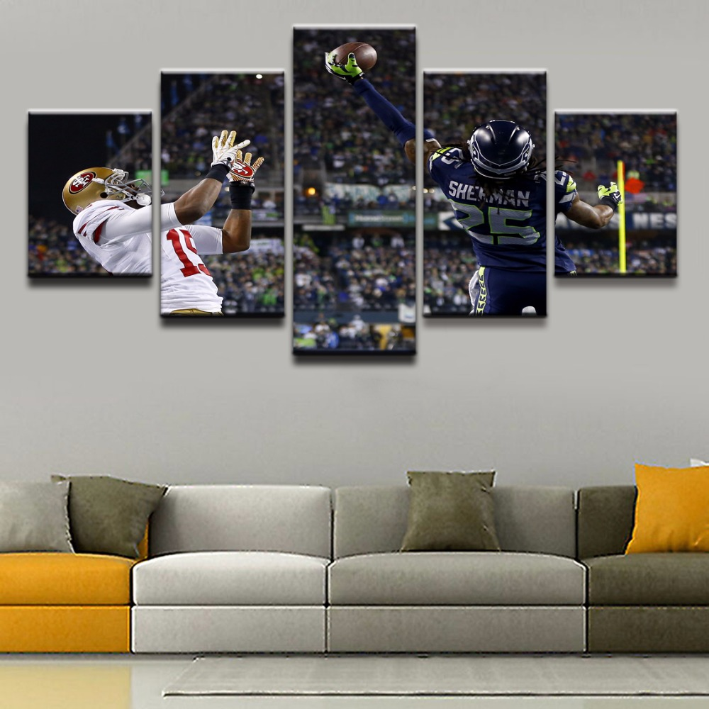 5 pieces sports seattle seahawks modern home wall decor painting 5 pieces sports seattle seahawks modern home wall decor painting canvas art print canvas wall modular picture for home decor in painting calligraphy from jeuxipadfo Choice Image