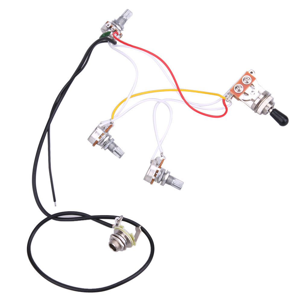 One Set Of Electric Guitar Wiring Harness 3 Way 2v1t 500k Open New Prewired With 2v 1t Switchs And A Lift Switch