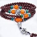 Hot Sale Women And Men lover Vintage Grade AA Garnet  Beads  Bracelet Bohemia Style Natural Stone Strand Bracelets 108pcs bead