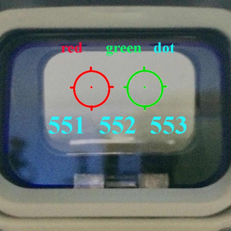 551 552 553 Merah Hijau Dot Sight Lingkup Berburu Hologram Reflex Sight Riflescope dengan 20 Mm Mount untuk Senapan Airsoft gun