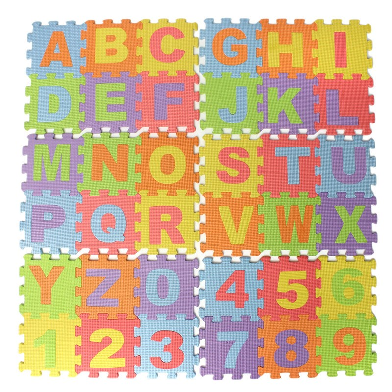 14.2cm Puzzle Number Letter Childrenu0027s Soft Eva Foam Play Mat Alphabet  Developing Crawling Baby Play Pad Floor Rugs Baby Games