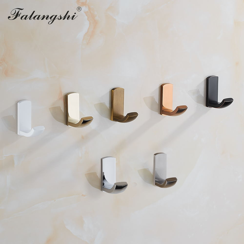 2Pcs Bathroom Towel Wall Hooks Antique Copper Brass Clothes Hanger Coat Hooks Rustproof Screwed Robe Hooks Wall Mount WB8101