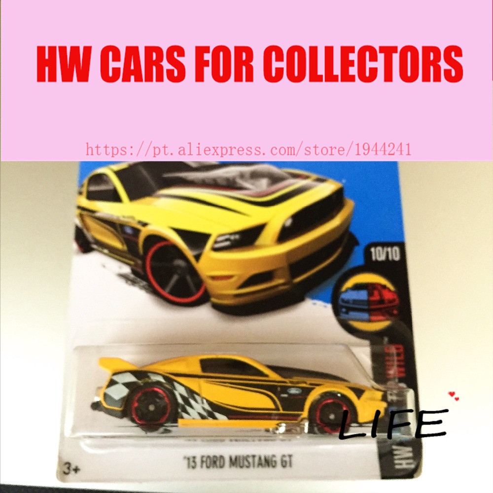 hot wheels 164 yellow mustang gt car models metal diecast cars collection kids toys vehicle for children juguetes
