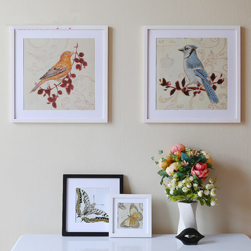 5 color wood hanging on the wall picture frame elegant for Elegant home decor