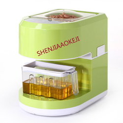 Naciśnij oleju podwójny inteligentny małe automatyczne elektryczne domu ciepłej i prasa do tłoczenia oleju na zimno olej słonecznikowy Extractor dotykowy metoda 220 V|Tłocznie olejowe|AGD -