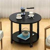 작은 커피 테이블 간단한 소파 사이드 코너 테이블 더블 레이어 캐비닛 현대 발코니 책상 홈 카페 가구