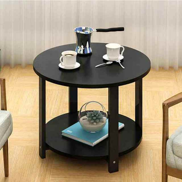 Astounding Small Coffee Table Simple Sofa Side Corner Table Double Layers Cabinet Modern Balcony Desk Home Cafe Furniture Gmtry Best Dining Table And Chair Ideas Images Gmtryco