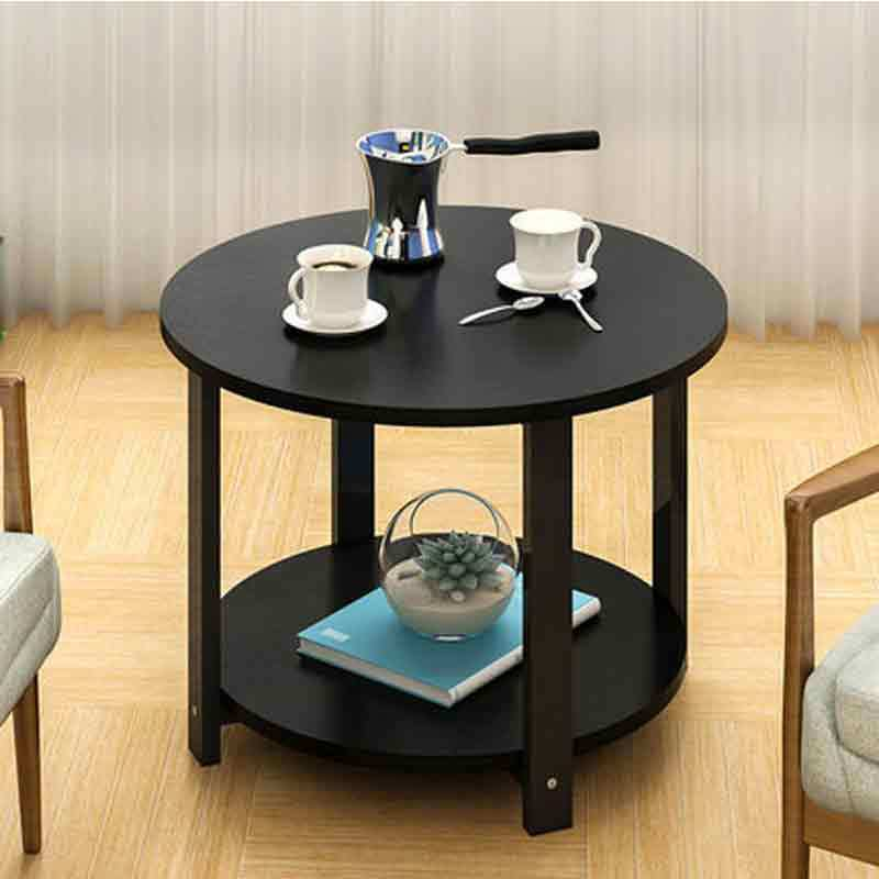 Small <font><b>coffee</b></font> <font><b>table</b></font> simple sofa side corner <font><b>table</b></font> double layers cabinet modern balcony desk home <font><b>cafe</b></font> furniture image