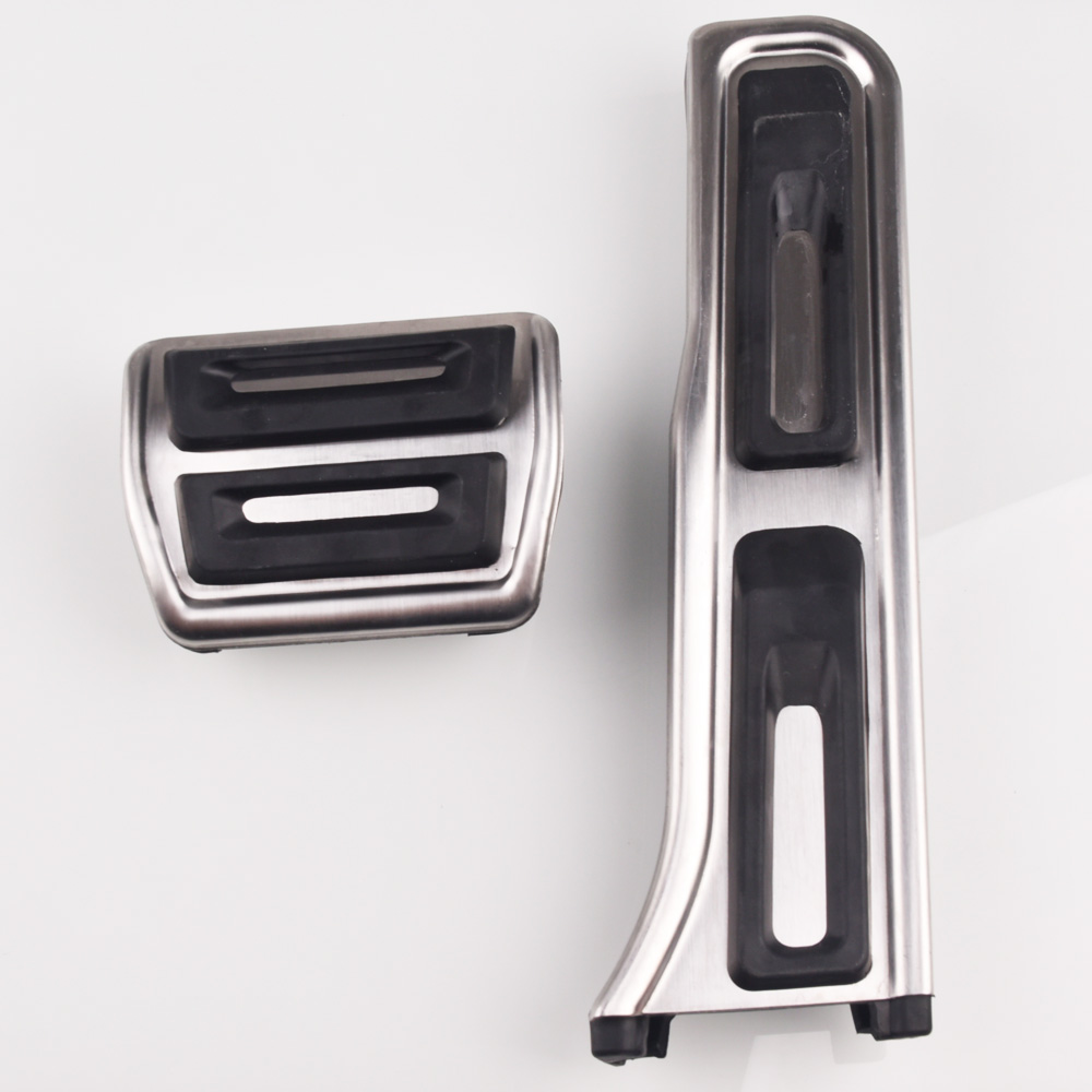Stainless steel Car <font><b>Pedal</b></font> Pads Cover For <font><b>Audi</b></font> <font><b>Q3</b></font> For Volkswagen Passat B7 Variant Touran Scirocco Car Stying image
