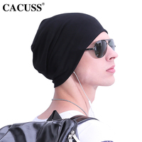 45a86a4bbcb CACUSS Men s Spring Beanie Hip Hop Caps Boys Girls Solid Cotton Hat  Traveler Autumn Warm Skullies