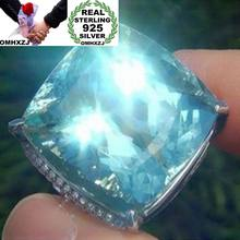 920521edb7df OMHXZJ europea al por mayor moda mujer hombre boda fiesta regalo plata mar azul  Topacio anillo de Plata de Ley 925 RR166