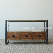 US French countryside wrought iron bookcase shelves LOFT industry to do the old retro style bookcase bookcase Shelves