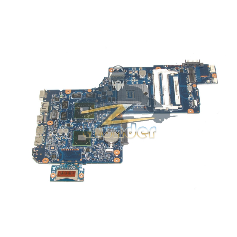 NOKOTION H000043490 Laptop Motherboard For Toshiba Satellite L870 C870 HM76 DDR3 HD7600 Series Video Card Full tested nokotion new h000052840 for toshiba satellite c870 l870 l875 laptop motherboard pga988b slj8e hm76 ddr3 hd7610m video card