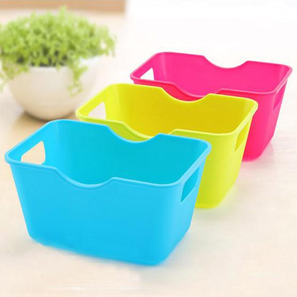 15*11.3*7cm Storage Boxes Plastic Office Desktop Makeup Organizer Cases Box Container Dropshipping Sep25