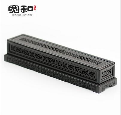 Creative censer violet Tan stencil Windows classic incense box incense burner wood carved solid wood bedroom