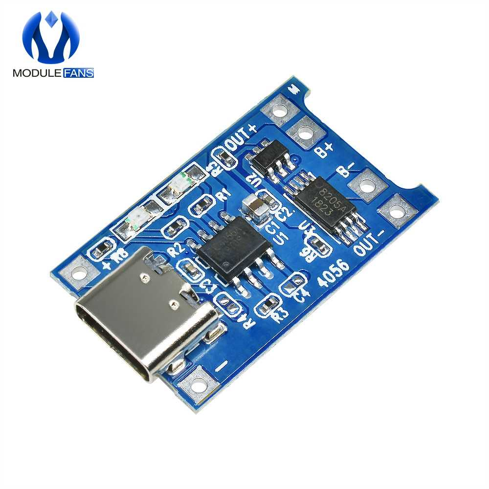 5PCS TP4056 Type-c USB 5V 1A 18650 Lithium Battery Charger Li-ion Module Charge Board With Protection Dual Functions