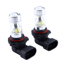 2 unids 9006 HB4 2323 SMD 60 W Poder Más Elevado LLEVÓ 6000 K Faros Antiniebla luces de Conducción Del Bulbo de la CC 12 V