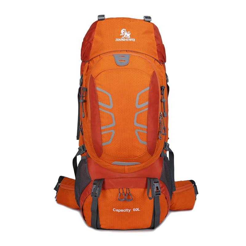 屋外キャンプトレッキングバックパック 60L 大登山ハイキングリュックサックアルミ合金サポート旅行バッグ軽量化 ベアリング  グループ上の スポーツ & エンターテイメント からの 登山バッグ の中 1