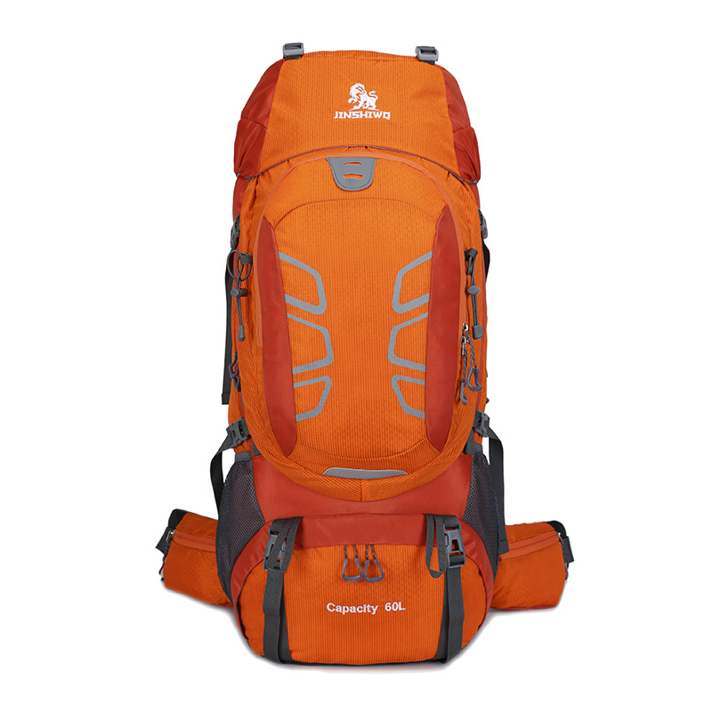 Outdoor Camping Trekking Backpack 60L Large Climbing Hiking Rucksack Aluminum Alloy Support Travel Bag Reducing Weight bearing-in Climbing Bags from Sports & Entertainment    1