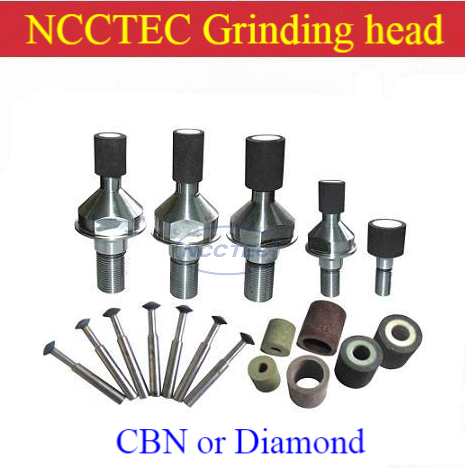 CBN Cubic boron nitride or Diamond Mini flat bowl stone grinding head wheel for grinding hard steel Stainless steel iron metal