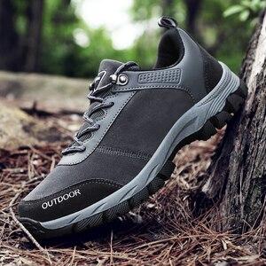 Hiking Shoes Man Waterproof Hiking Sneakers Warm High Top Mountain Climbing Camping Shoes Trekking Hunting Footwear Big Size