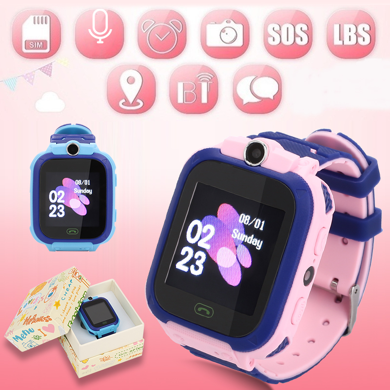 S12 GPS Kind Smart Uhr Telefon Position Kinder Uhr 1,44 zoll Farbe Touch Screen WIFI SOS Smart Baby Uhr Q50 q80 q60 Uhr image