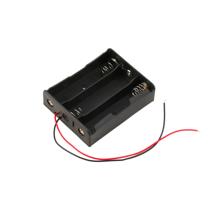 2019 Plastic Battery Storage Case Box Holder For 3 x 18650 Black With 3 standard 12V New DIY Rechargeable Holder Case Wholesale image