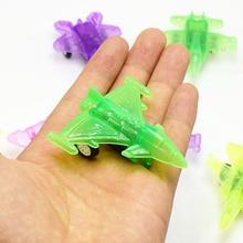 5pcs/lot Transparent Colorful Plastic Mini Pull Back Sports Car Model for Kid Gift